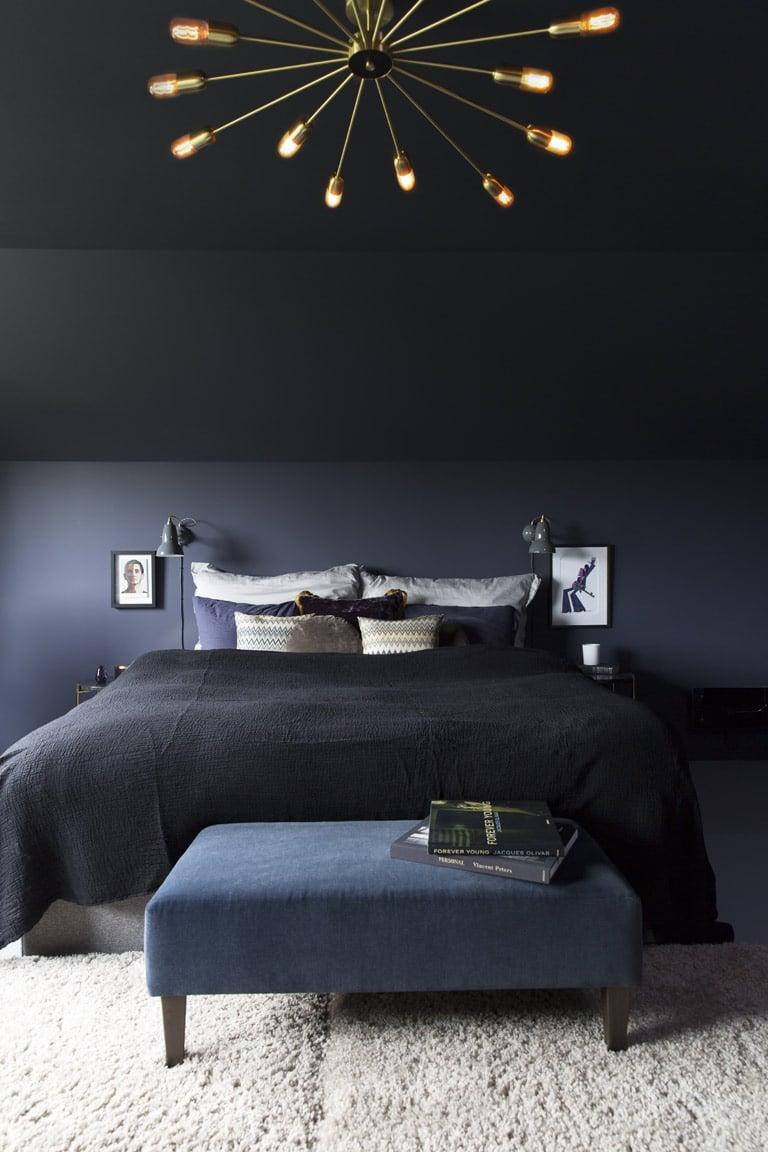 Quel mur faut-il peindre en couleur dans une chambre à coucher?